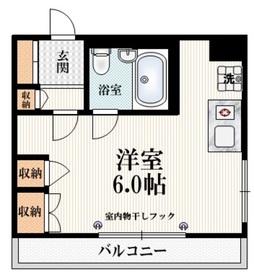 イナミハイム4階Fの間取り画像