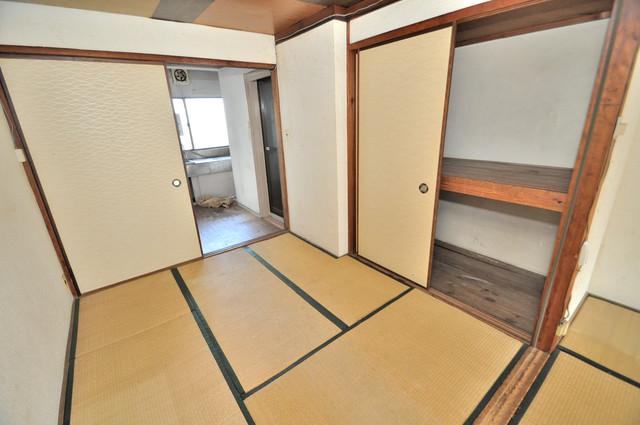 八戸ノ里KS 畳の心地よい香りがする、この空間で癒されてください。