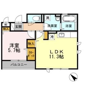 元町 MY Sweet3階Fの間取り画像