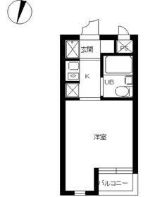 スカイコート横浜大口22階Fの間取り画像