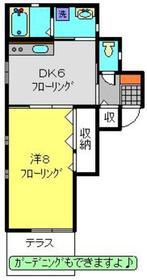 ヴィラドール1階Fの間取り画像