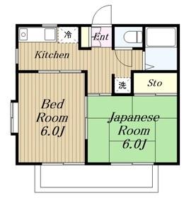 KGKハイツ2階Fの間取り画像