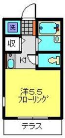 三田レジデンス日吉B1階Fの間取り画像