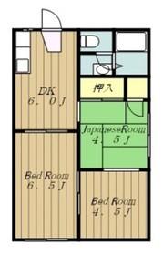 本厚木駅 バス23分「中荻野」徒歩2分2階Fの間取り画像