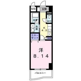カーサ・エテルノ4階Fの間取り画像