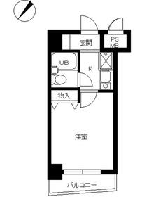 スカイコート世田谷用賀第22階Fの間取り画像