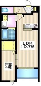 メゾン エスポワール1階Fの間取り画像