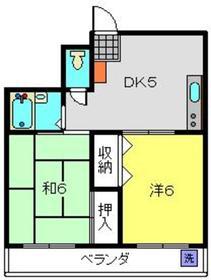 仲町ヒルイン3階Fの間取り画像