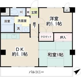 フィーバスU3階Fの間取り画像