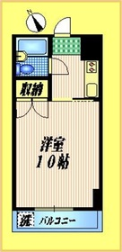 メゾン富士2階Fの間取り画像