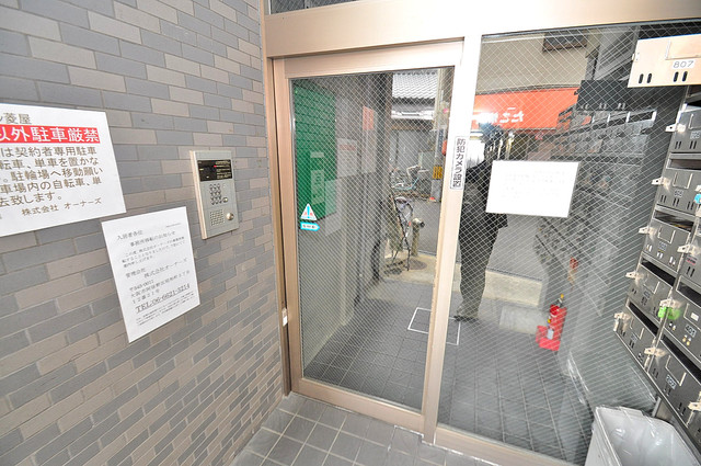 オーナーズマンション菱屋西 オシャレなエントランスは安心のオートロック完備です。