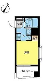 スカイコート鶴見第56階Fの間取り画像