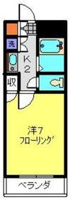 アネックス日吉Ⅱ1階Fの間取り画像
