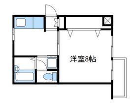 ウェル相武台パートⅠ3階Fの間取り画像