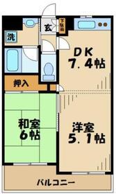 エクレール多摩永山2階Fの間取り画像