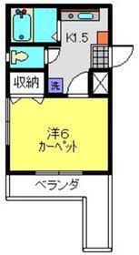 シーガル横浜1階Fの間取り画像