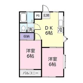 サクセスA1階Fの間取り画像