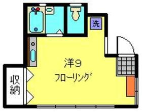 ハイムYUI1階Fの間取り画像