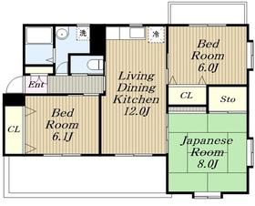 アネックス湘南3階Fの間取り画像