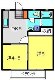 第7佐藤ハイツ2階Fの間取り画像