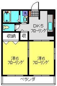 アダージョ2階Fの間取り画像