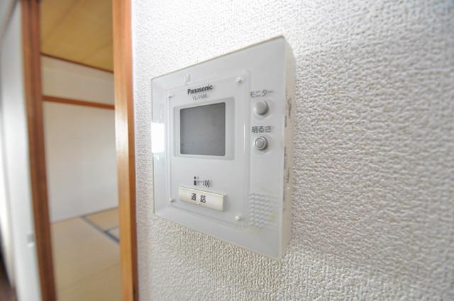 日栄ビル3号館 モニター付きインターフォンでセキュリティ対策もバッチリ。