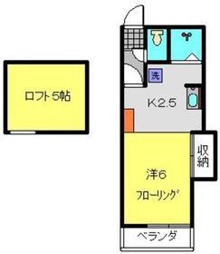 パレス蒔田2階Fの間取り画像
