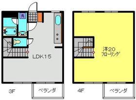 武蔵小杉駅 バス10分「黄金塚」徒歩1分2階Fの間取り画像