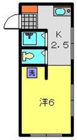 ボニータ1階Fの間取り画像