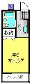 南太田駅 徒歩15分2階Fの間取り画像