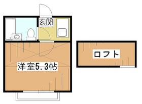 ライフピアファニー2階Fの間取り画像