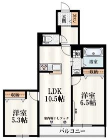 (仮称)小川町1丁目マンション2階Fの間取り画像