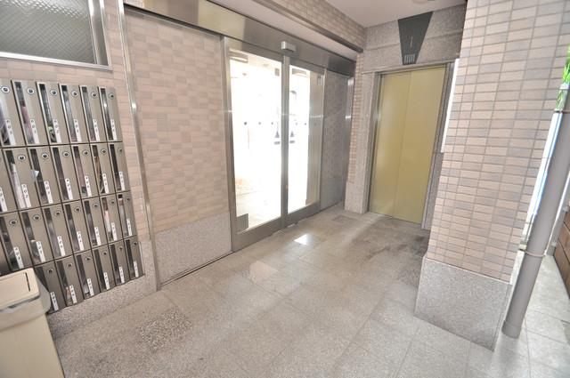 Ritz新今里 エレベーターホールもオシャレで、綺麗に片づけられています。
