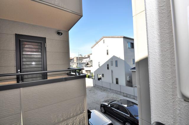 ピア小阪 この見晴らしが陽当たりのイイお部屋を作ってます。