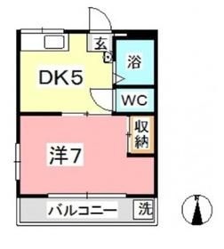 ロイヤル黒崎 NO.12階Fの間取り画像