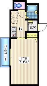 パークビュー西横浜3階Fの間取り画像