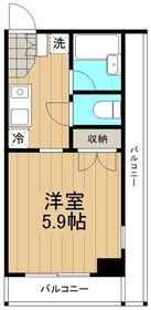 リバーサイドハイツ湘南2階Fの間取り画像
