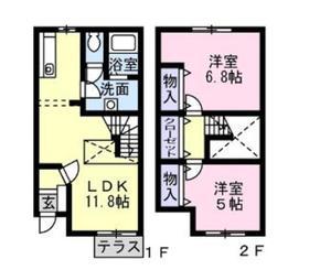 相模大塚駅 徒歩8分1-2階Fの間取り画像