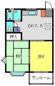 メゾンドエスティーム1階Fの間取り画像