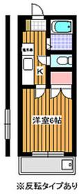 バルビゾン2階Fの間取り画像