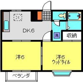 ラピスⅠ2階Fの間取り画像