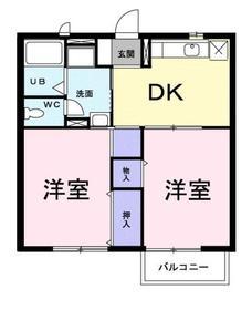 パークタウン2階Fの間取り画像