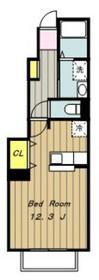 ベル・コリーヌ1階Fの間取り画像