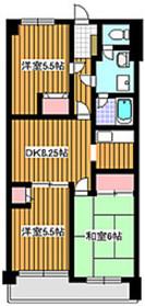 成増駅 徒歩22分4階Fの間取り画像