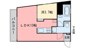 エルモス西新2階Fの間取り画像
