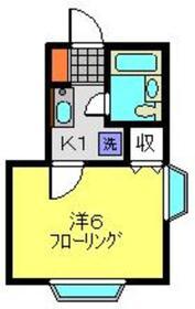 菊名駅 徒歩6分2階Fの間取り画像