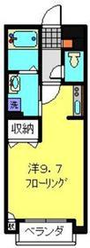 サンライク和田町1階Fの間取り画像
