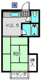 伊東荘1階Fの間取り画像