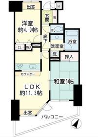 NICEアーバン横濱駅東館10階Fの間取り画像