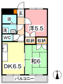 ヴィレッジロイヤルセブン4階Fの間取り画像